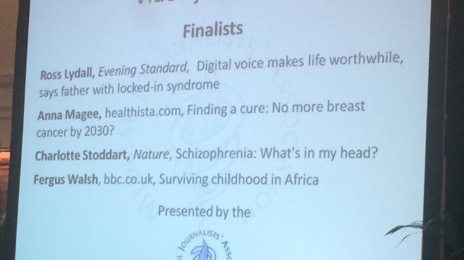Video Journalism Award Finalists